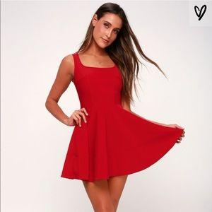 "Lulu's ""home before daylight"" red dress"
